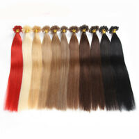"16"" 18"" 20"" 22"" 26"" 100S Pre Bonded Glue Nail/U Tip Remy Human Hair Extensions"