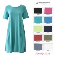 PRAIRIE COTTON USA  8372  PRINCESS DRESS TUNIC  A-Line Top S M L XL  SPRING 2018