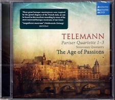 TELEMANN 3 Pariser Quartette THE AGE OF PASSIONS Hille Perl Karl Kaiser Santana