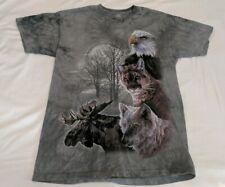 The Mountain Mens Eagle Moose Wolf Bobcat Animal T-Shirt Sz L