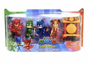 PJ Masks Power of Mystery Mountain Collectible Figure 5-Piece Set/New in Package