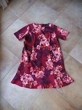 Joanna Hope Red/Pink Floral Short sleeve Trumpet Hem Ponte Sheath Dress 20