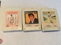 Lot Of Three Elvis 8 Track Cassette Tapes