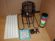 New BINGO Cage Machine Game Set w/70 Improved Slide Slider Shutter Cards & More