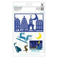 DOCRAFTS XCUT A5 BUILD A SCENE DIES SPECIAL DELIVERY - CHRISTMAS 7 PIECE DIE SET