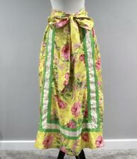 Vtg 60s 70s Women's Long Maxi Skirt Multi-Color Floral Flower Hippie Medium H