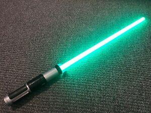 Star Wars Green FX Yoda Light Sabre - Sounds & Lights Up - 2014 Disney Store