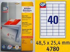 *** TOP Avery-Zweckform 4780 Etiketten, 48,5 x 25,4 mm, 1000 Stück ***