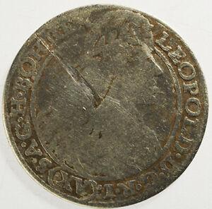 15 Kreuzer 1664 Austria. Coin Silver. Leopoldus.