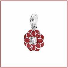 Pandora Oriental Charm Bloom, Red Enamel 791829CZ, Sterling Silver .925