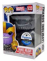 Funko Pop #533 Silver Metallic Holiday Thanos Funhouse Custom Exclusive 1/10