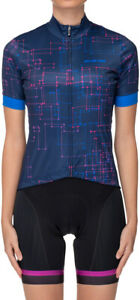 Bellwether Galaxy Jersey - Navy, Short Sleeve, Women's, X-Small