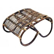 Old World style Rattan ottoman - H35 x D58 x W45cm