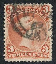 CANADA 25 USED VF, 3c RED