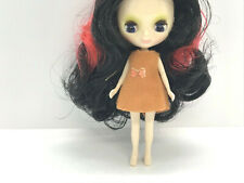 Free Ship Factory Type Mini Petite Blythe - Mix Hair Color Red and Black