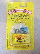 1992 Matchbox Originals Horse Drawn Milk Float No 7