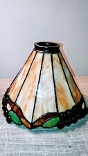 Vintage Stained Glass - Lampshade - Multiple Earth tone colors