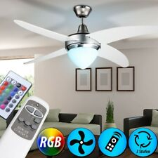 RGB Led 7,5 W Ceiling Vent Remote Control Room Cooler Fan Big Light