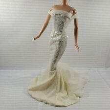 DRESS BARBIE DOLL  BIRTHSTONE JULY RUBY FITTED GLITTER EVENING GOWN  ACCESSORY