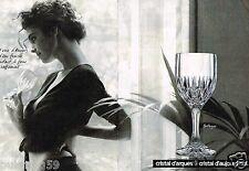 Publicité Advertising 1988 (2 pages) Cristal d'Arques ... Verre Bretagne