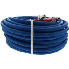Pressure Washer Parts Hose - 6000 PSI 100 FT 2 Wire Braid - Blue Non-Marking