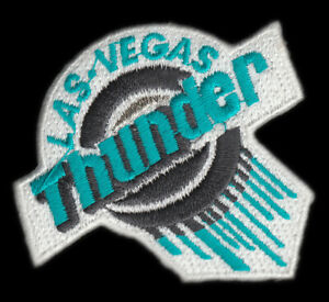 "1993-98 LAS VEGAS THUNDER IHL HOCKEY MINORS 2.5"" DEFUNCT TEAM LOGO PATCH"