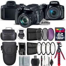 Canon PowerShot SX70 HS Camera +7 PC Filter Kit + Shoulder & Pocket Case +32GB