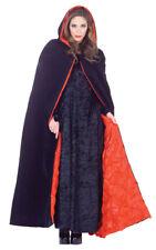 Hooded Velvet Cape Deluxe Adult Costume 63 Inch Satin Embossed Lining Underwraps
