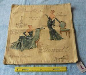 "Chad Barrett Couture Fashion Paris Divas Tapestry Pillow Cover Sham 18""x17.5"""
