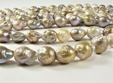 10-14mm Large Hole Natural Seaweed Baroque Pearl 2mm Hole Natural Pearl (#243)