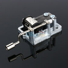 Mechanical Hand Crank 18 Notes Music Box Movement DIY Craft Beautiful Song Gift
