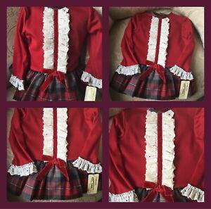 Christmas Spanish baby girls Dress set  12-18-24;months  romany NEW