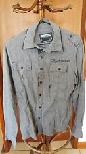 Fresh Soul Grey/Black Mens Casual Long Sleeve Shirt Cotton