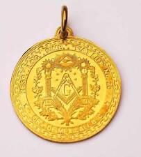Medalla Masónica de bronce grabada al ácido