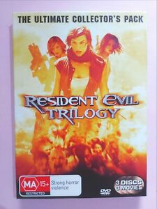 Resident Evil Trilogy ULTIMATE COLLECTOR'S PACK [ 3 DVD Set ] Region 4, FreePost
