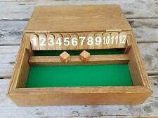 Handmade Shut the Box olde style Pub Game