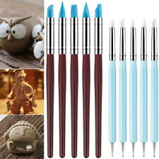 10 PC Clay Color Sculpting Rubber Tip Shaping Wipe out Carving Pen Brush Dotting