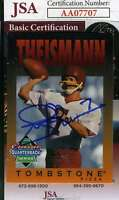 Joe Theismann Tombstone Pizza Jsa Coa Hand Signed Authentic Autograph
