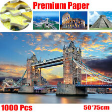 Jigsaw Puzzle 1000 Pieces Tower Bridge Corcovado Mayan Building Puzzle Games Toy