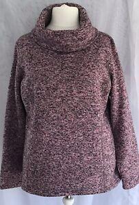 Mountain Warehouse  Ladies Pink Mix Cowl Neck Fleece Top Plus Size 20.