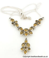 Citrine Pendant Necklace set in Sterling Silver