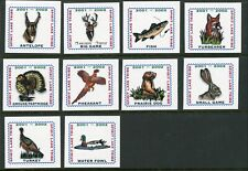 Spirit Lake Tribe Indian Reservation 2001-2002 set of 10 Hunting stamps