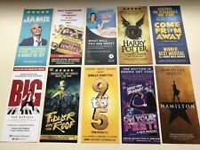 10 Different Flyers HAMILTON BIG 9 TO 5 HARRY POTTER COME FROM AWAY WAITRESS etc