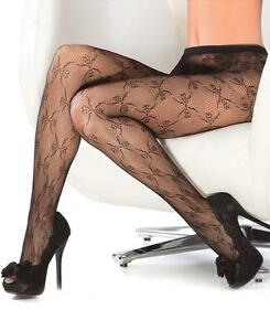 Bow Detail Fishnet Tights Pantyhose - Coquette 1790