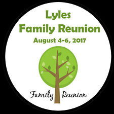 """20 Personalized Round Stickers - Family Reunion - Summer Party - 2"""" Inches"""