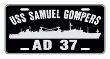 USS SAMUEL GOMPERS AD 37 License Plate Military USN 001