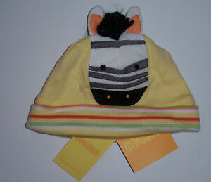 NWT Gymboree Jungle Gym Yellow Stripe Zebra Hat 0-3 Months