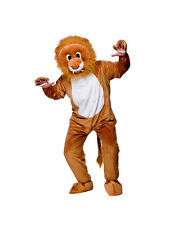 Adult Leo Lion Fancy Dress Mascot Costume Animal Zoo Wild Cat Unisex Brand New