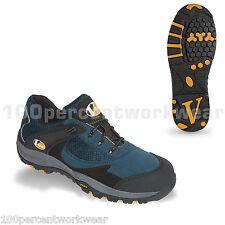 V12 VS400 seguridad Vtech Pitstop Trabajo Zapatillas Zapatos Puntera Blue Suede libre de metal
