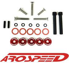 AROSPEED RED 5PC CNC BILLET VALVE COVER BOLT + WASHER KIT D15 D16 D17 ENGINE